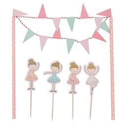 HUELE Happy birthday Cake Banner,Toppers and Wrappers for Gi