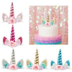 Happy Birthday Cake Toppers 1th Unicorn Cupcake Topper Kids