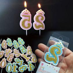 Editorial Pick Happy Birthday Candles Glitter 0 9 Numbers Cake Toppers Deco