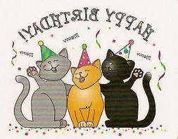 Happy Birthday Cats ~ Edible Cake Topper