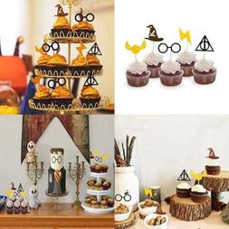 Harry Potter Inspired Cupcake Toppers Wizard Birthday Party