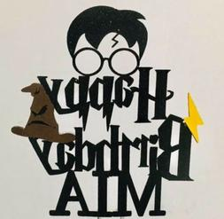 Harry Potter Inspired Happy Birthday Cake Topper Decoration