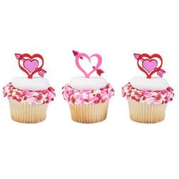 24 ct. Heart Arrows Cupcakes Picks with Cupcake Wrappers