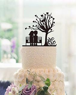 Heart Tree Doll Silhouette Wedding Cake Toppers Country Them