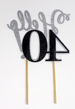 All About Details Hello 40! Cake Topper,1pc, 40th Birthday D