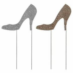 high heel shoes glitter cake topper dessert
