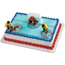 Decopac Hockey Face Off 4 Pc Cake Decorating Set New Conditi