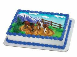 Horses Ponies Pony Farm cake decoration Decoset cake topper