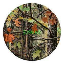 "SDore Hunting Camo 8"" Round Edible Birthday Cake Topper Fros"