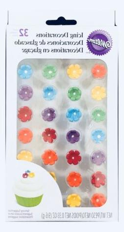 Wilton 710-2215 Icing Decoration, Royal Flower Rainbow, Mini