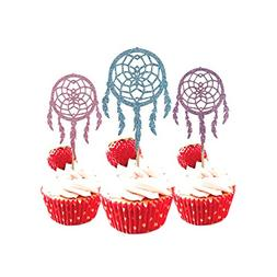 Indian Dream Catcher Cupcake Topper 12 Pack Cupcake Topper D