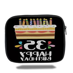 iPad Bag,35th Birthday Decorations,Celebration Card Design T