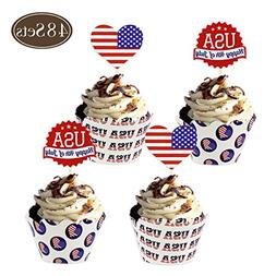 BAKHUK 4th of July Patriotic Party Supplies Independence Day