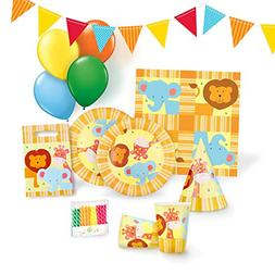 Jungle Party Supplies Set for 12 - Birthday Party Kit includ