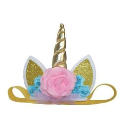 Kids Unicorn Horn Ears Cake  Decorations Dessert Table Girl