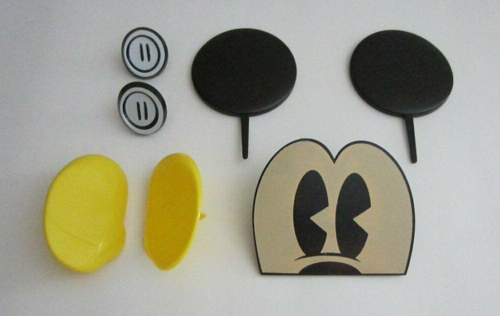 1 Disney Mickey Mouse Ears Face Decoset Birthday Cake Topper