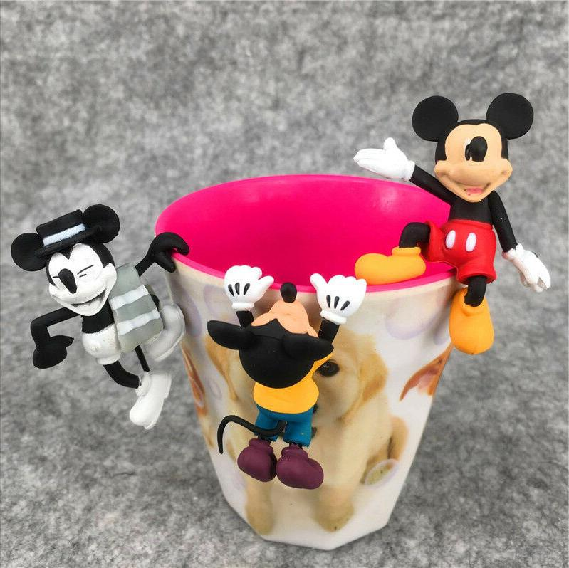 1 Set of 3 Disney Mickey Mouse Cup Mug Partner Pal Figures T