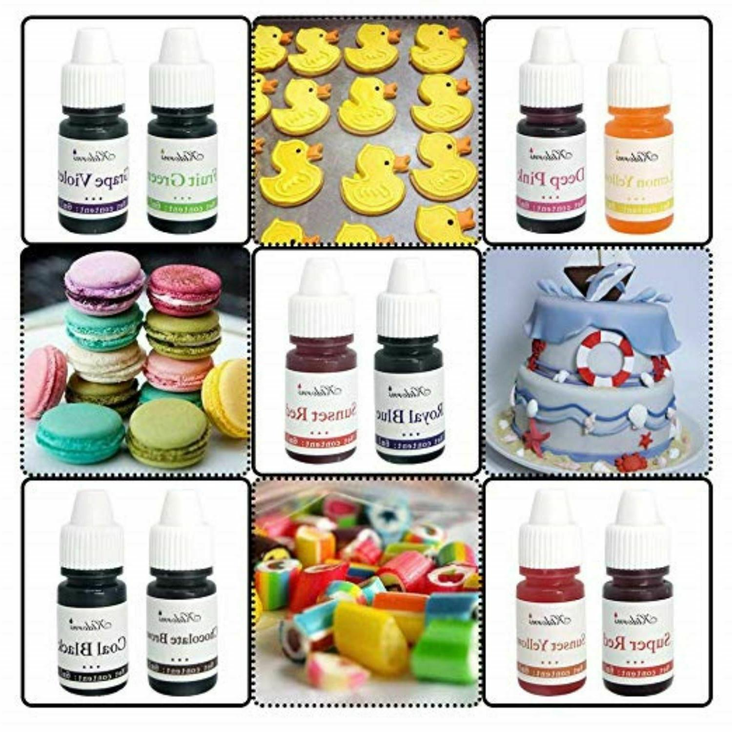10 COLOR CAKE Liqua Coloring Baking Set Cooking New