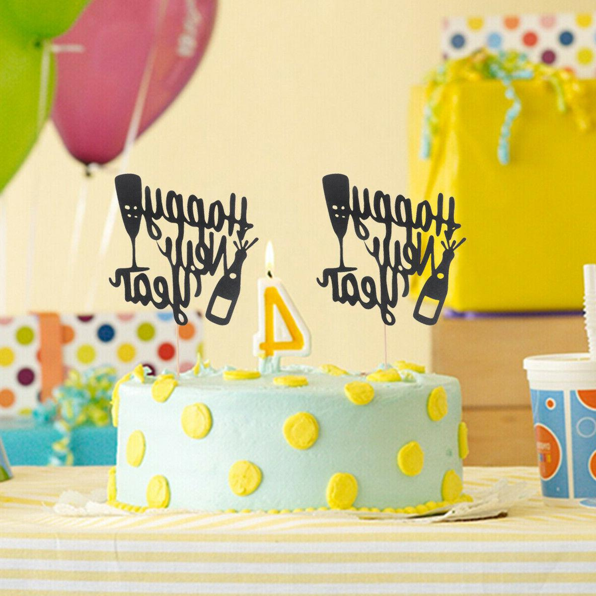 10 Pcs Happy Topper Party Decorations