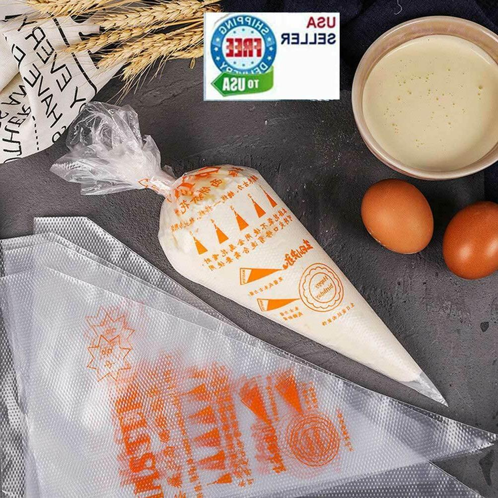 100 thick plastic disposable pastry bag icing
