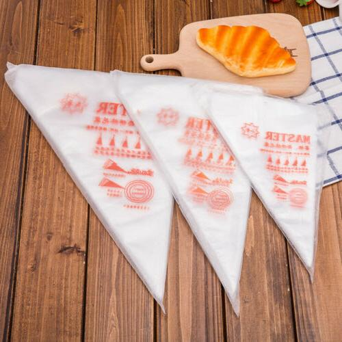 100 Thick Plastic Disposable Pastry Icing Cake Bag
