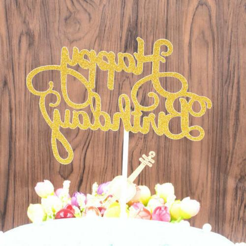 New Paper Cake Topper Happy Birthday Cake Decor