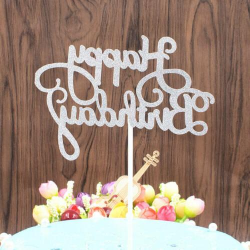 New Glitter Paper Topper Dessert Cake Decor Party