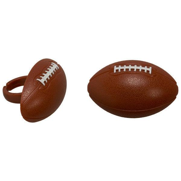 12 3d football rings cupcake toppers cake