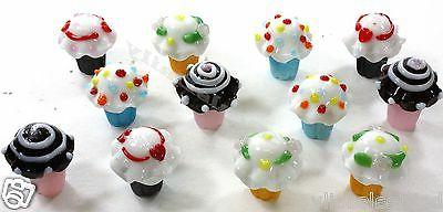 12 pack lot glass cupcake cake toppers
