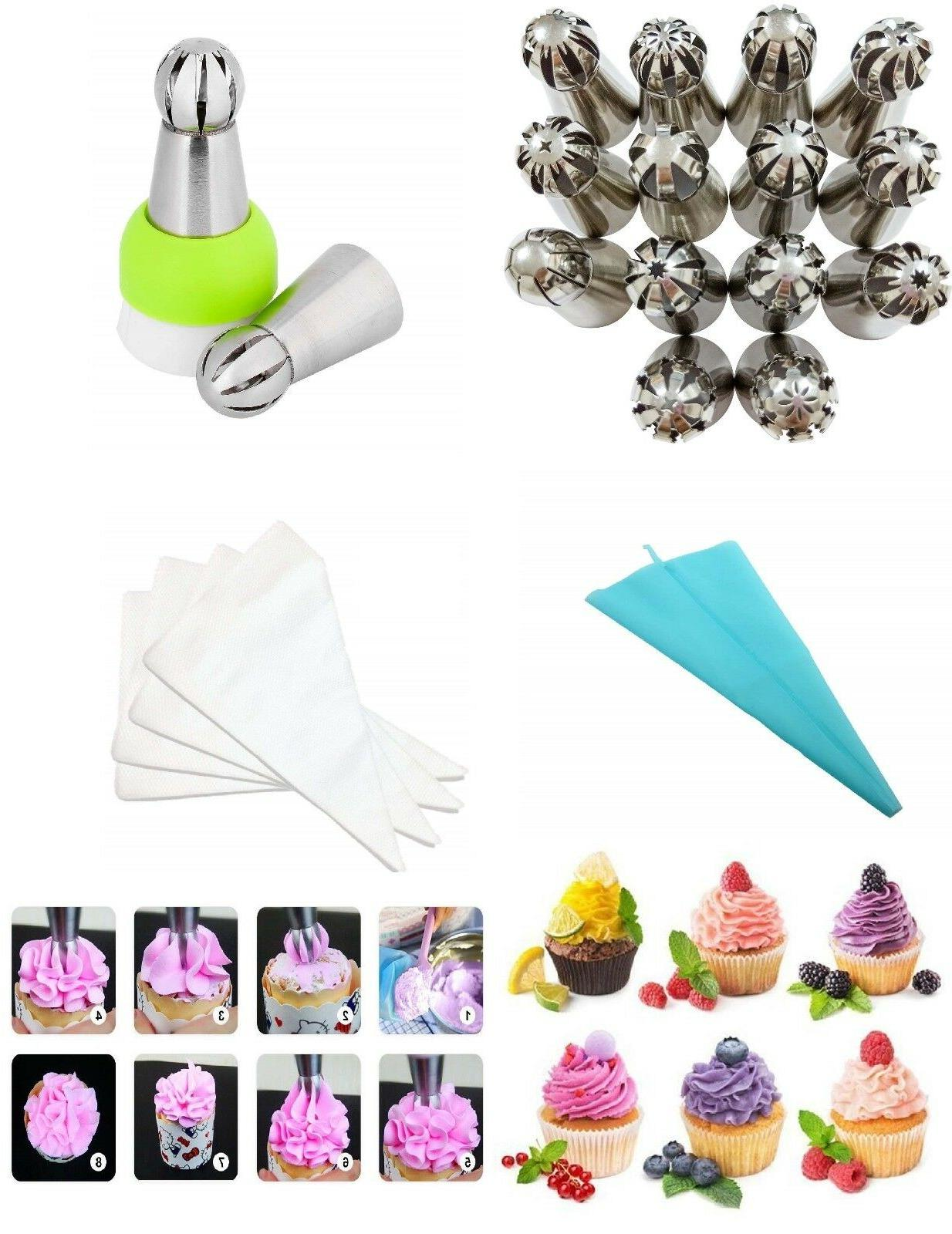 14 sphere ball russian icing piping tips