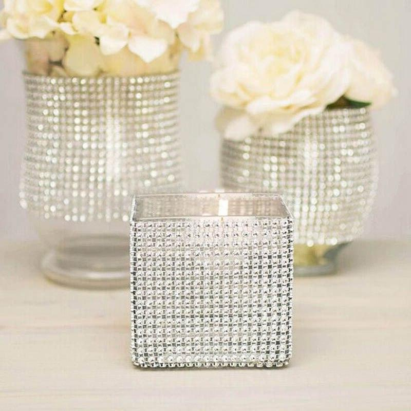 1Yard Rhinestone Diamond Ribbons Mesh Roll Birthday <font><b>Decorations</b></font> <font><b>Decorations</b></font> Tape