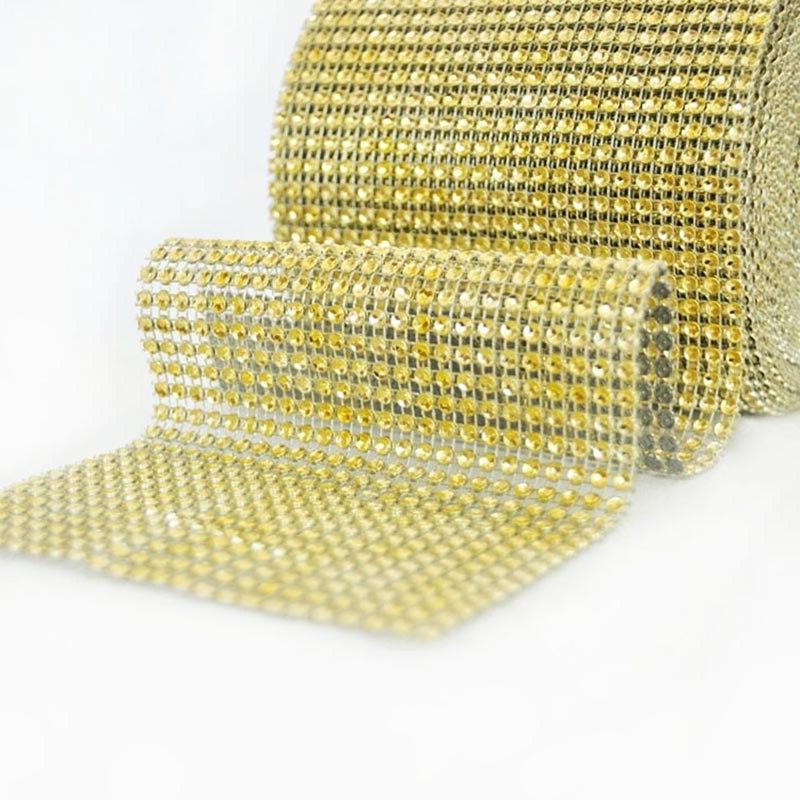 1Yard Bling Diamond Ribbons Roll Wedding <font><b>Decorations</b></font> Tape
