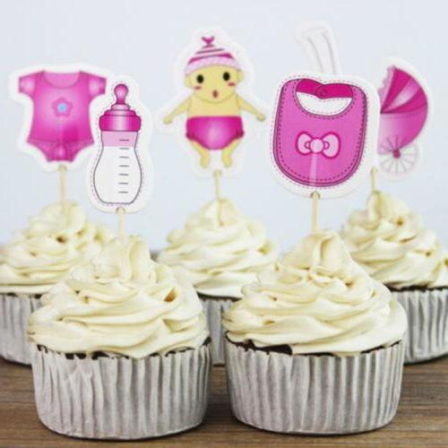 Baby Shower Cake Cupcake Topper Picks Decorations For Kids P