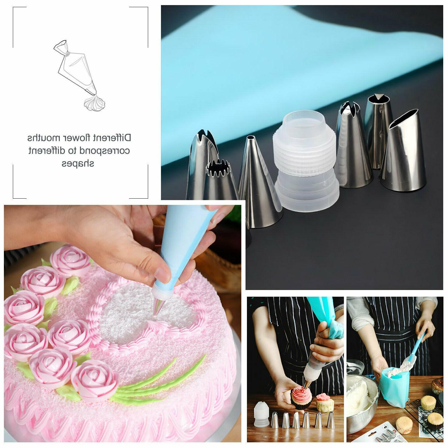 Silicone Piping Pastry Nozzle +Converter