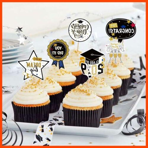 2019 Graduation Cake Toppers Fun Cupcake Decorations Picks Party Supplies Diplom