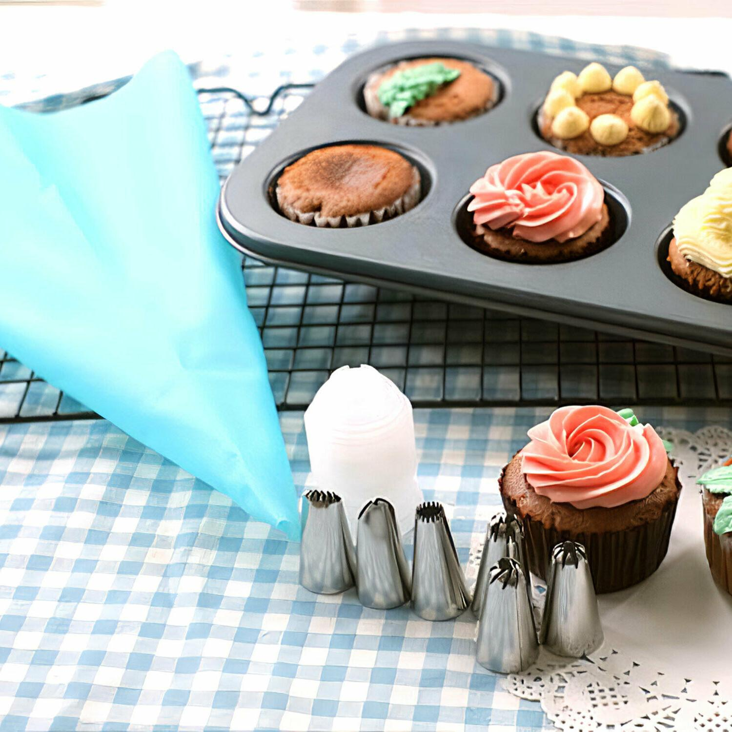 20PC Pastry Bag Nozzle Set Cooking Kitchen Cake Tool