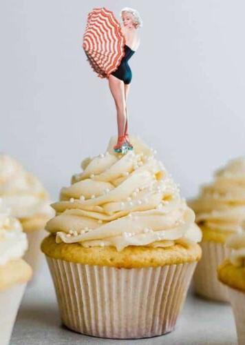 24 marilyn monroe cupcake cake toppers party