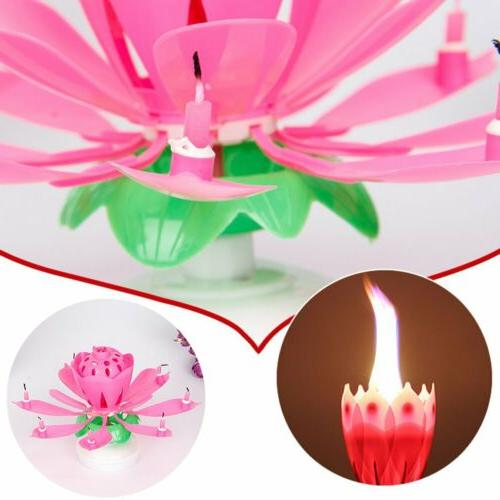 2PC Candle Musical Rotating