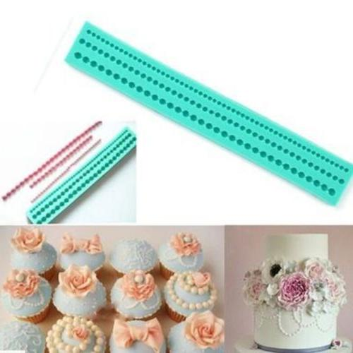 2pcs silicone green pearl necklace cake decorating