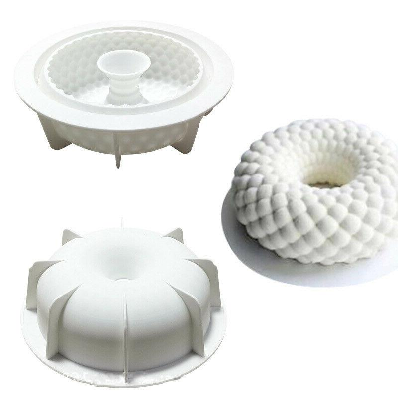 3D Cakes Mold Tray Baking Mousse Decor Tools Desserts Silico