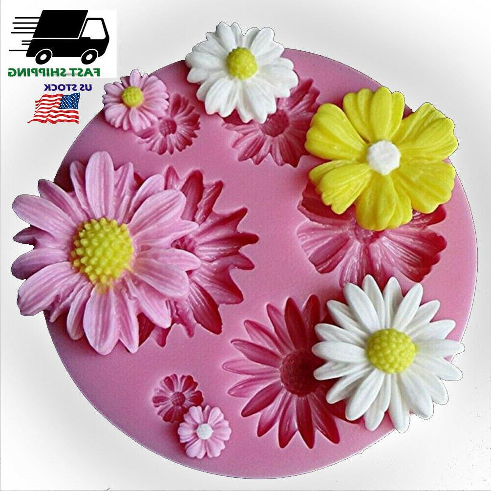 3d flower silicone fondant cake decor mold