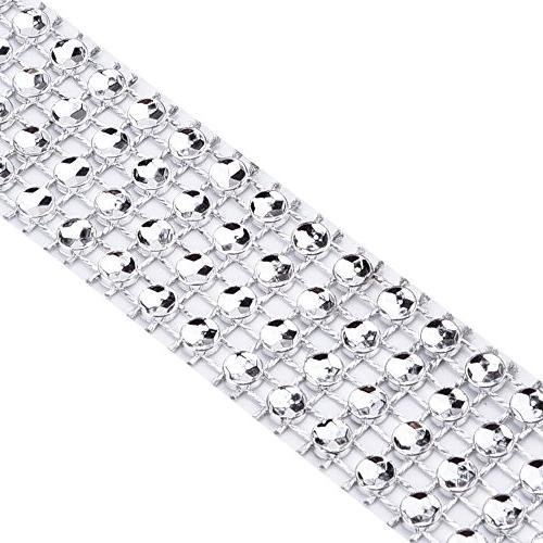 eBoot Yard Rhinestone Ribbon for Wedding Cakes, Birthday Baby Events Arts Crafts