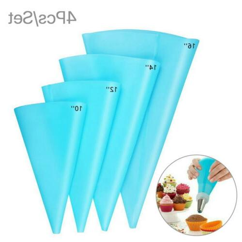 4 size silicone pastry icing piping cream