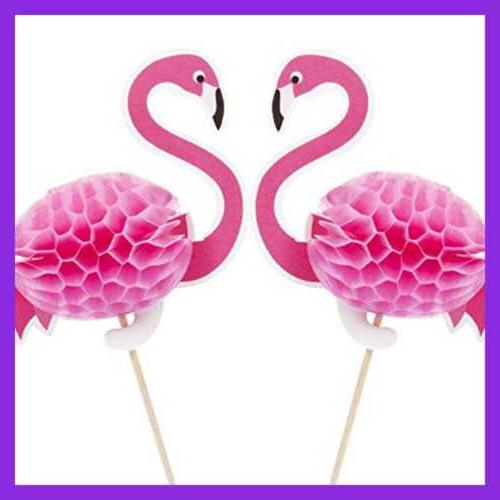 40 Pack Flamingo Toppers Cocktail Decoration