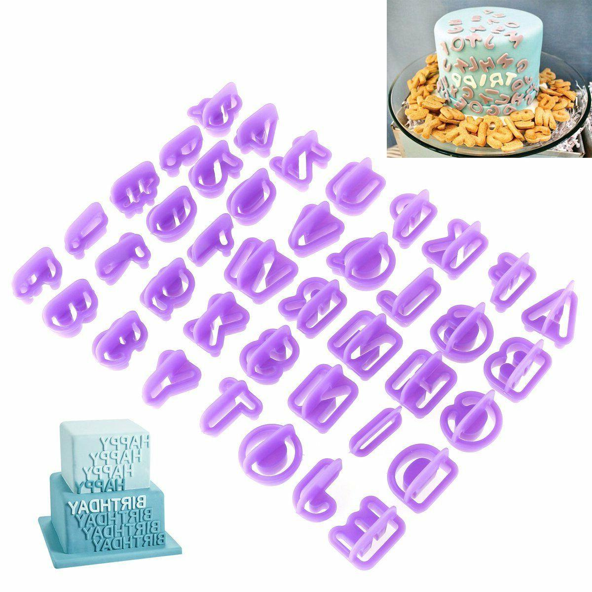 40pcs set icing cutter mold mould alphabet