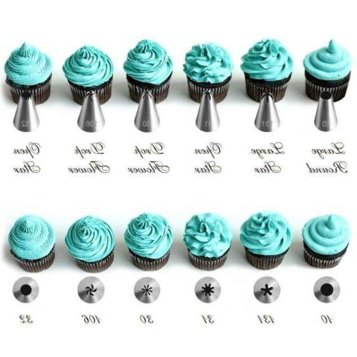 42Pcs Icing Nozzles Pastry Sugarcraft Decorating Set DIY