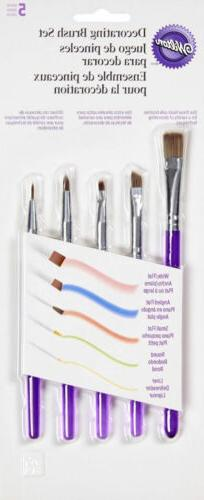 5 Pc Decorating Brush Set from Wilton 1352