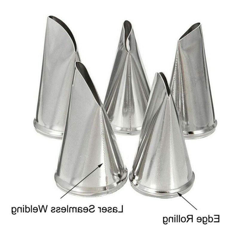 5Pcs Cake Kit Supplies Tools Tips Pastry Icing Bags Nozzles Set