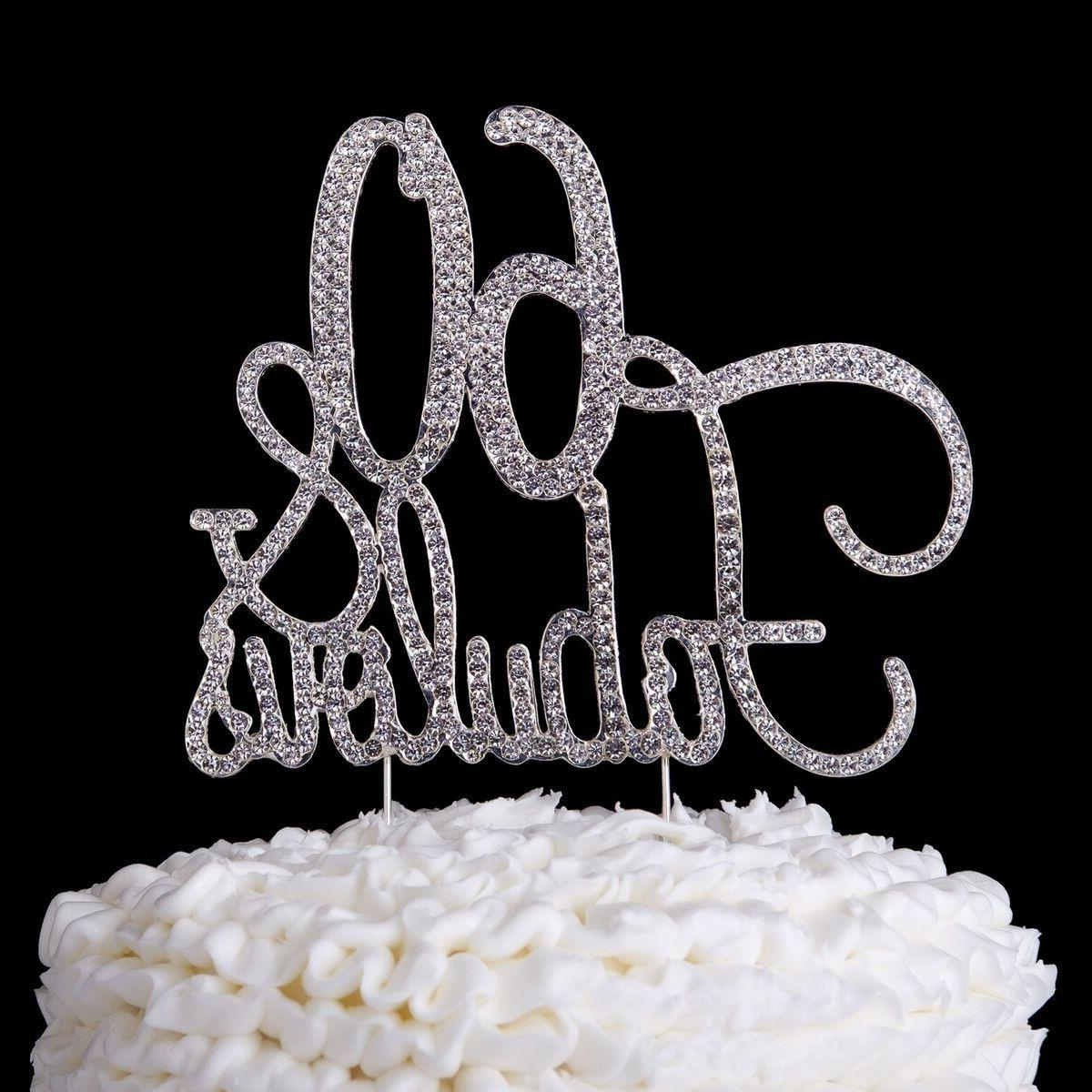 60 & Fabulous Cake Topper 60th Birthday Party Supplies Silve