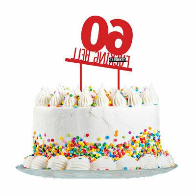 60th Birthday Cake Topper Party Decorations 60 Today For Men /& Women 3mm Acrylic